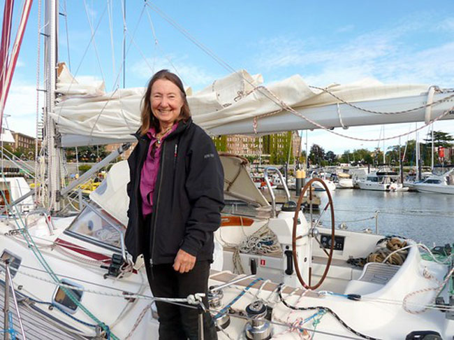 Jeanne Socrates, 77, made history as the oldest person to sail around the world solo.