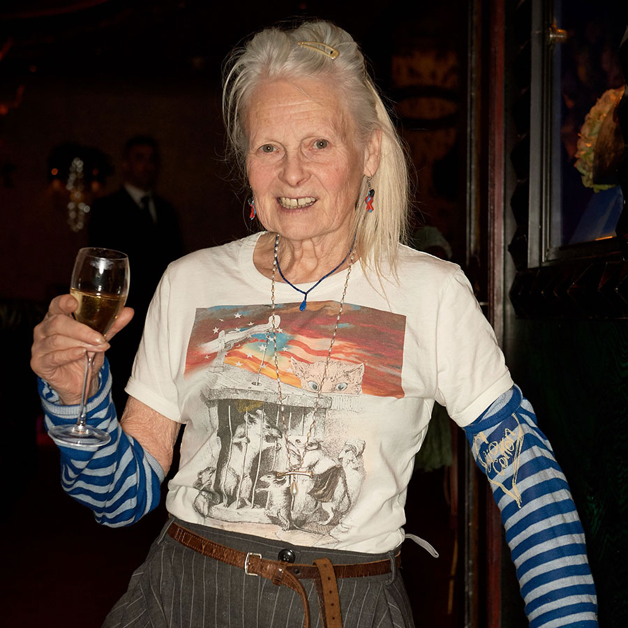 Vivienne Westwood at the Atelier Swarovski dinner in London.