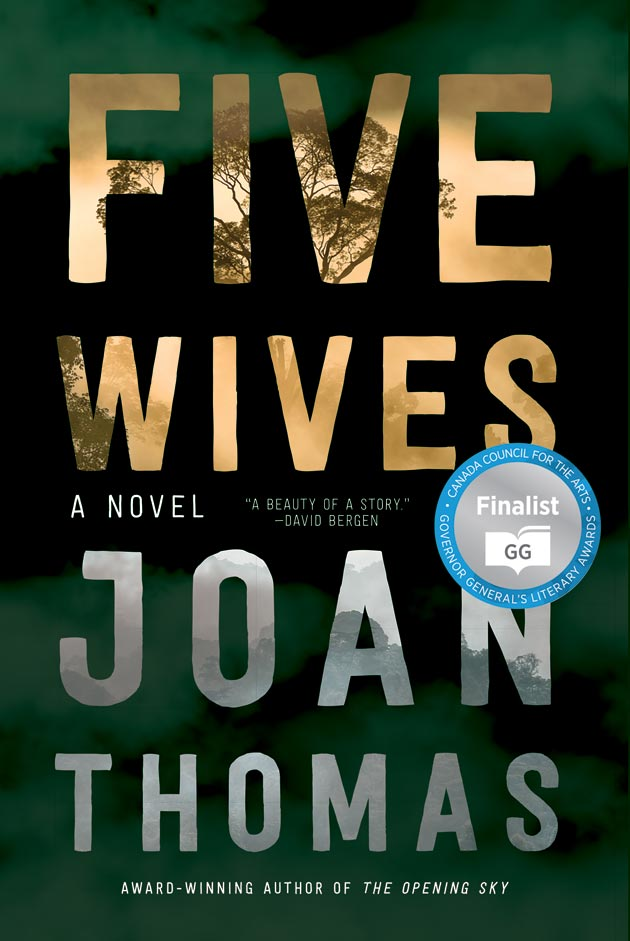 Book cover for Five Wives by Joan Thomas