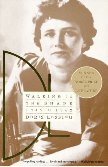 book cover for Walking in the Shade by Doris Lessing