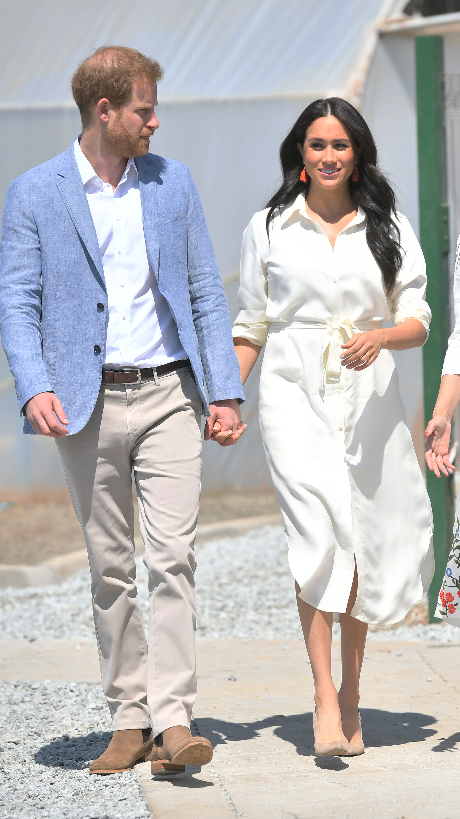 Prince Harry, Duke of Sussex and Meghan, Duchess of Sussex visit the township of Tembisa during their royal tour of South Africa.
