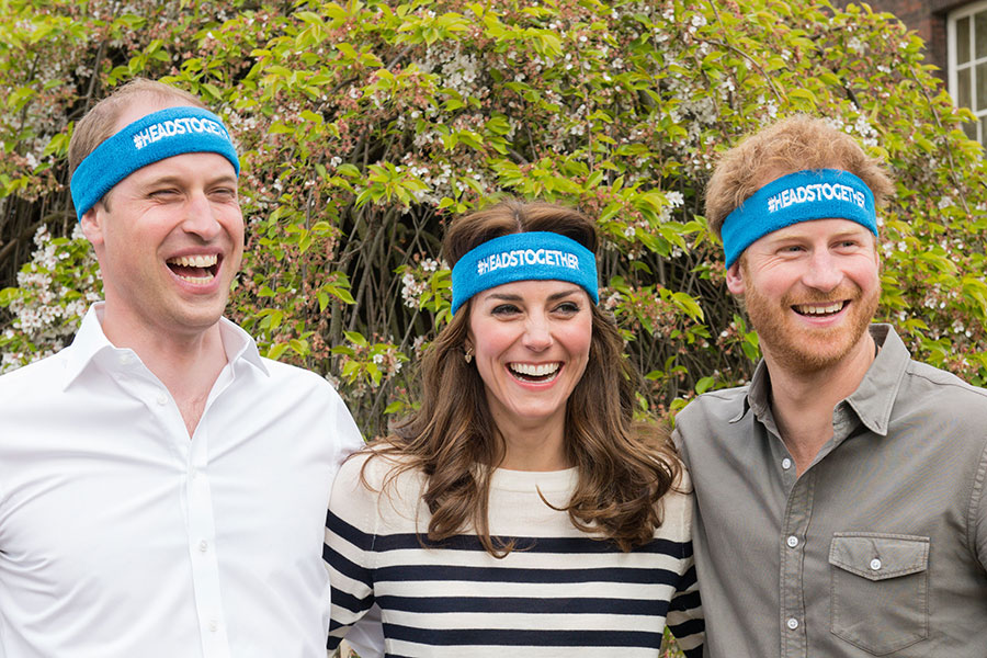 The Duke and Duchess of Cambridge and Prince Harry promoting the Heads Together campaign, which aims to change the national conversation on mental health