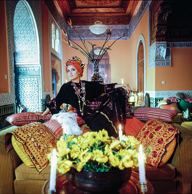 Talitha Getty at her home in Marrakech, 1970.