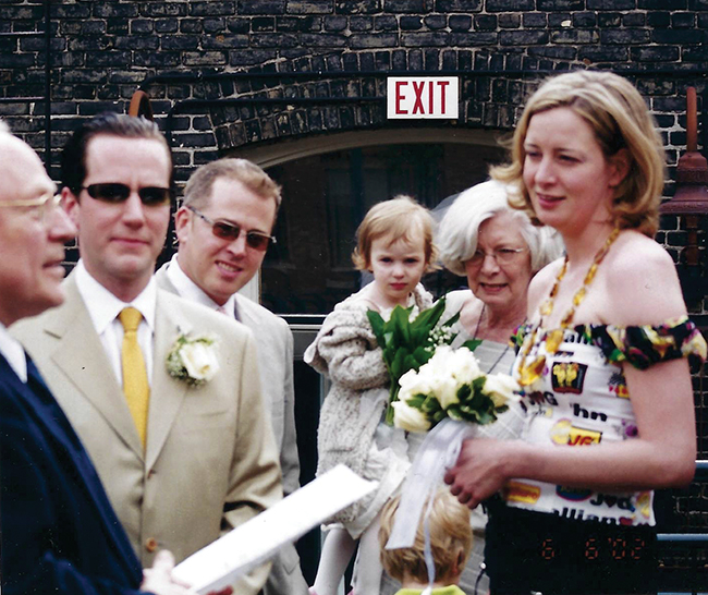 A photo from the author's second wedding in 2002.