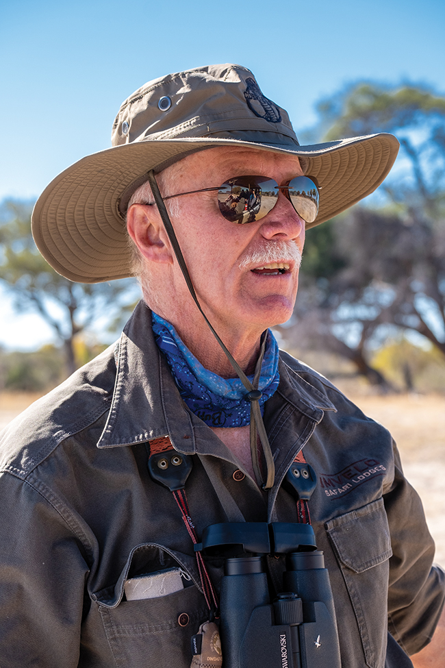 A photo of the managing director of Imvelo Safari Lodges, Mark Butcher.
