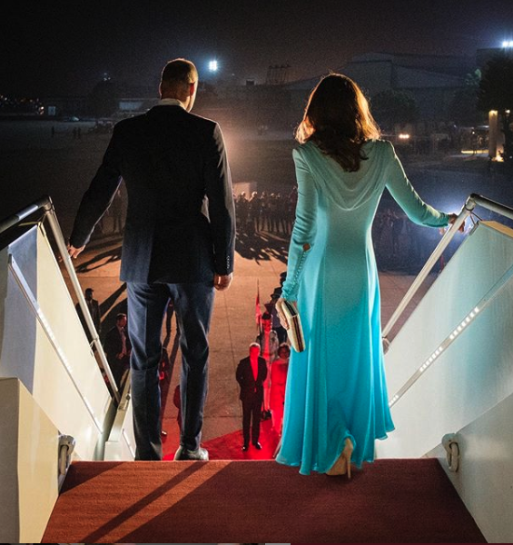 The Duke and Duchess of Cambridge arrive in Pakistan.
