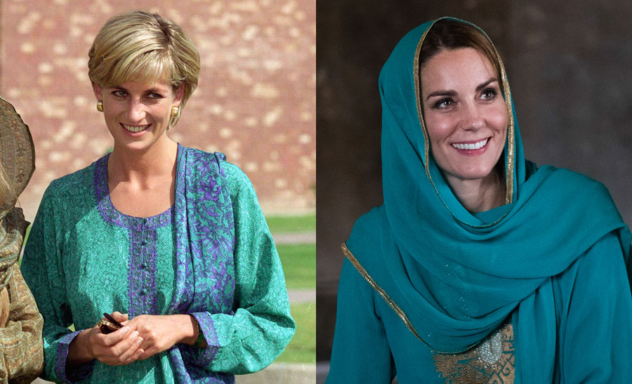 Diana Princess of Wales and Catherine Duchess of Cambridge