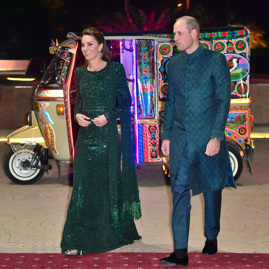 Prince William, Duke of Cambridge and Catherine, Duchess of Cambridge attend a reception hosted by the British High Commissioner to Pakistan in Islamabad.