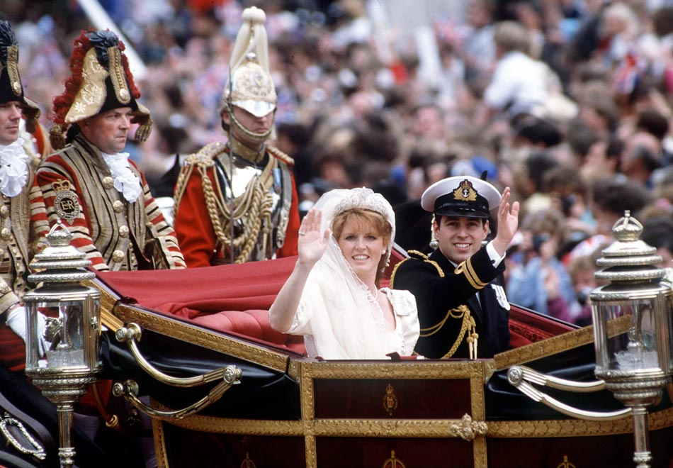 Prince Andrew's wedding on July 23, 1986
