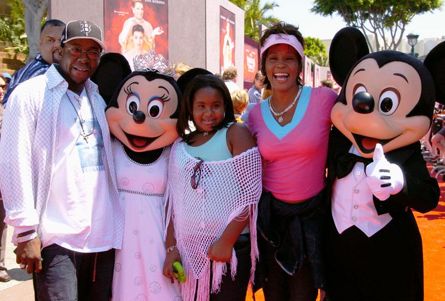 Whitney Houston and family.