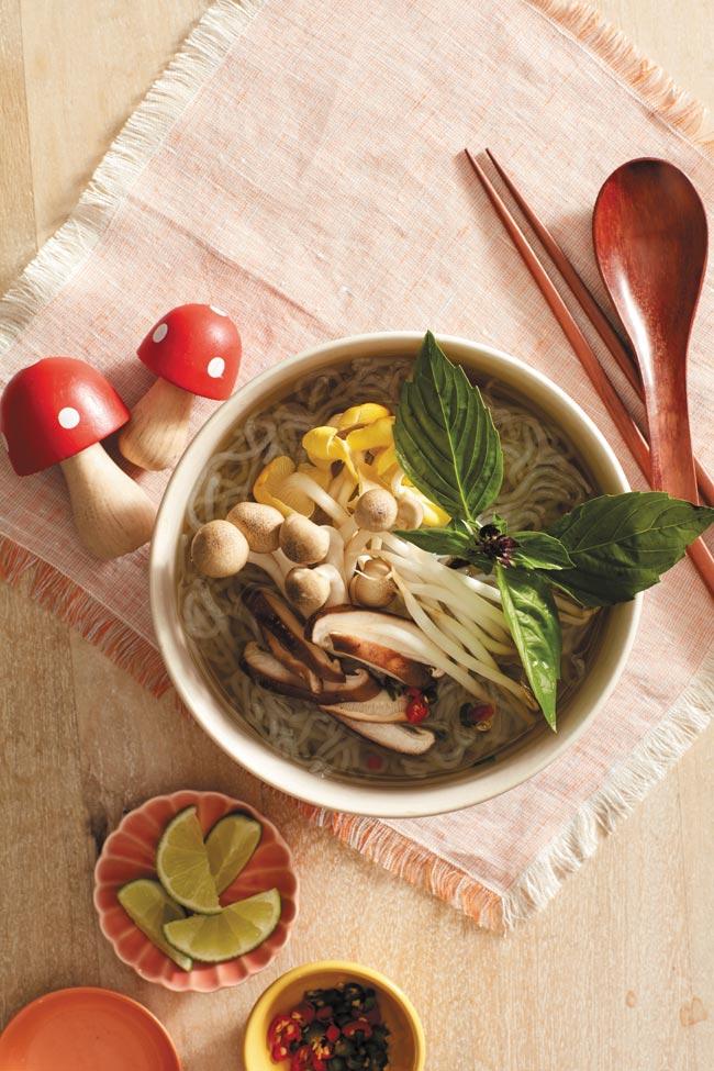 A bowl of Pho noodle soup