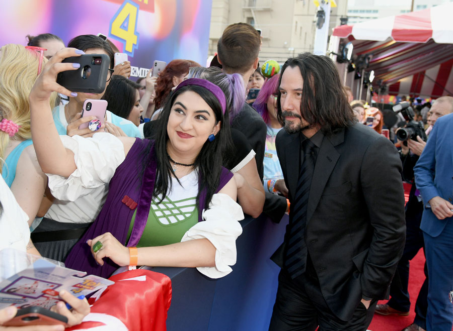 "Keanu Reeves attends the premiere of Disney and Pixar's ""Toy Story 4"" on June 11, 2019 in Los Angeles, California."