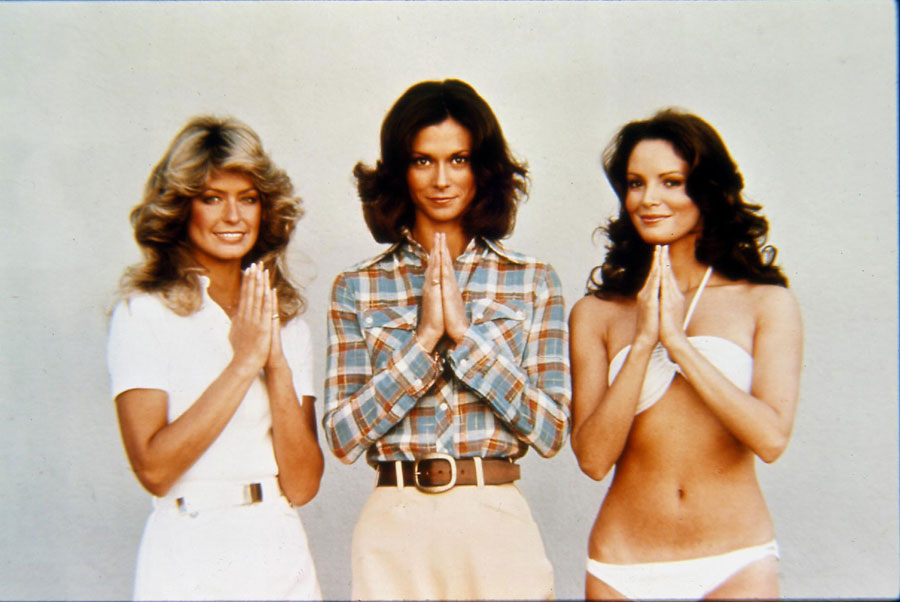 American TV Series Cast Of 'charlie's Angels' Left to Right: FARRAH FAWCETT-MAJORS; KATE JACKSON and JACLYN SMITH, American Actresses.