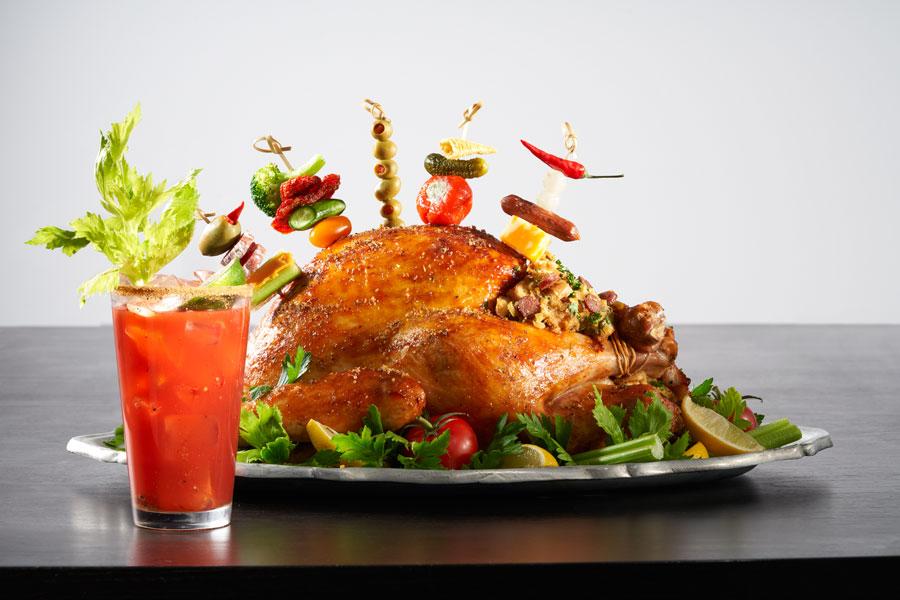 Blood Caesar-Inspired Roast turkey