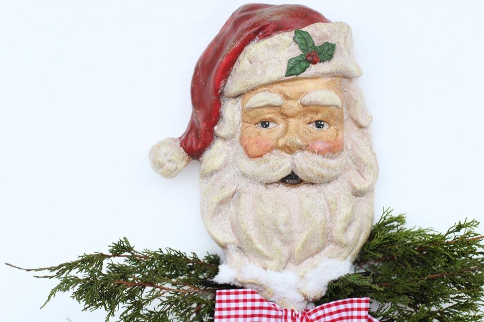 A photo of a vintage Santa
