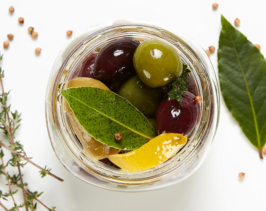A jar of olives
