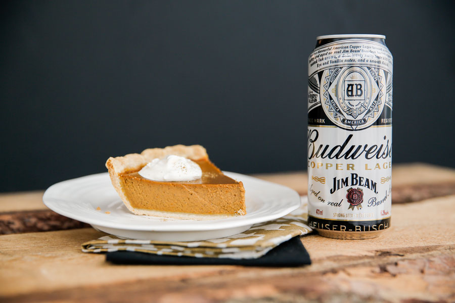 Pumpkin pie paired with Copper Lager