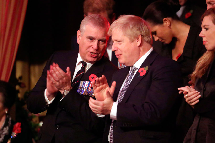 Prince Andrew and Boris Johnson.