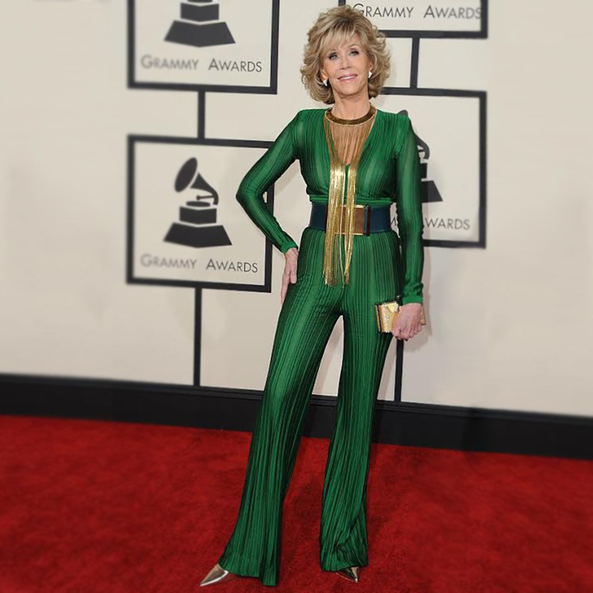 Jane Fonda, jumpsuits