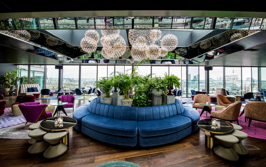 12th Knot, the rooftop bar at Sea Containers London hotel.