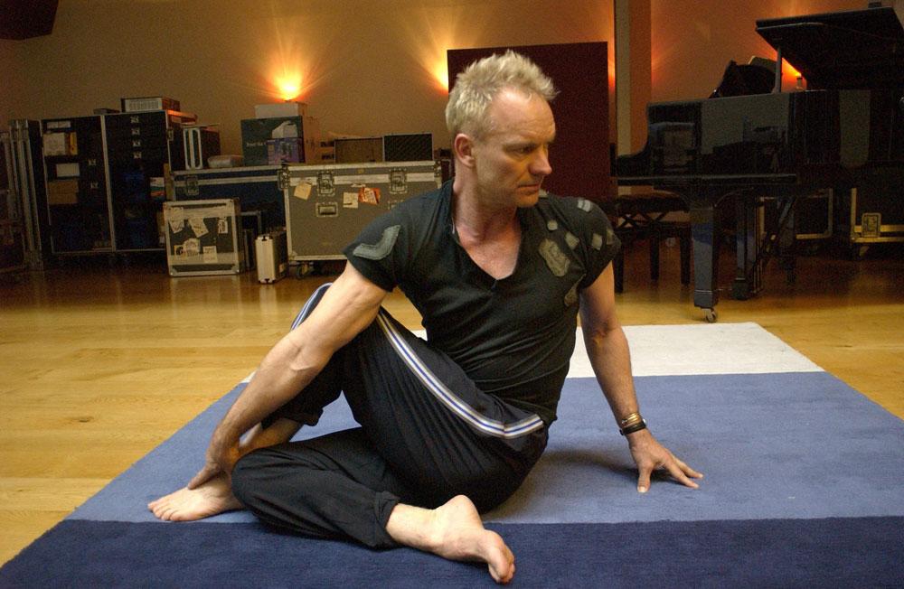 twist, yoga, position, posed, Sting