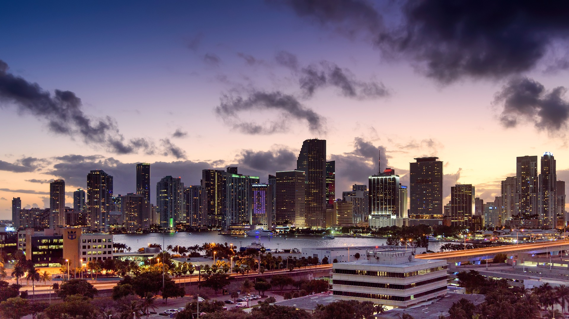 Miami Florida skyline.