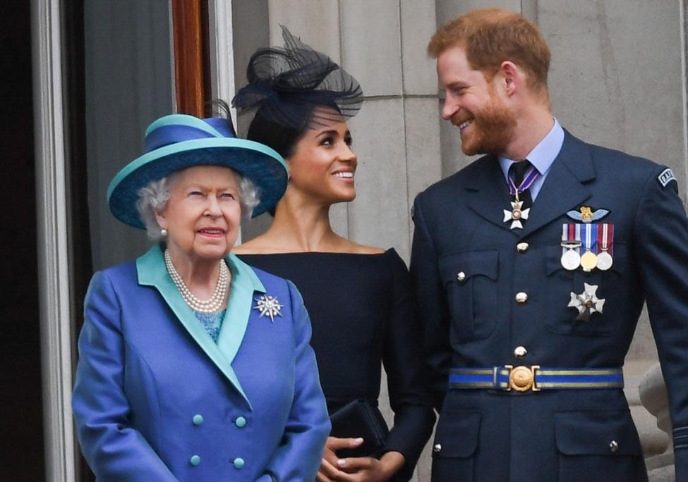Prince Harry, Queen Elizabeth, Meghan Markle