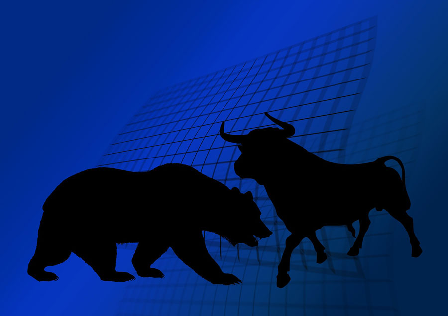 stock exchange, bear or bull market