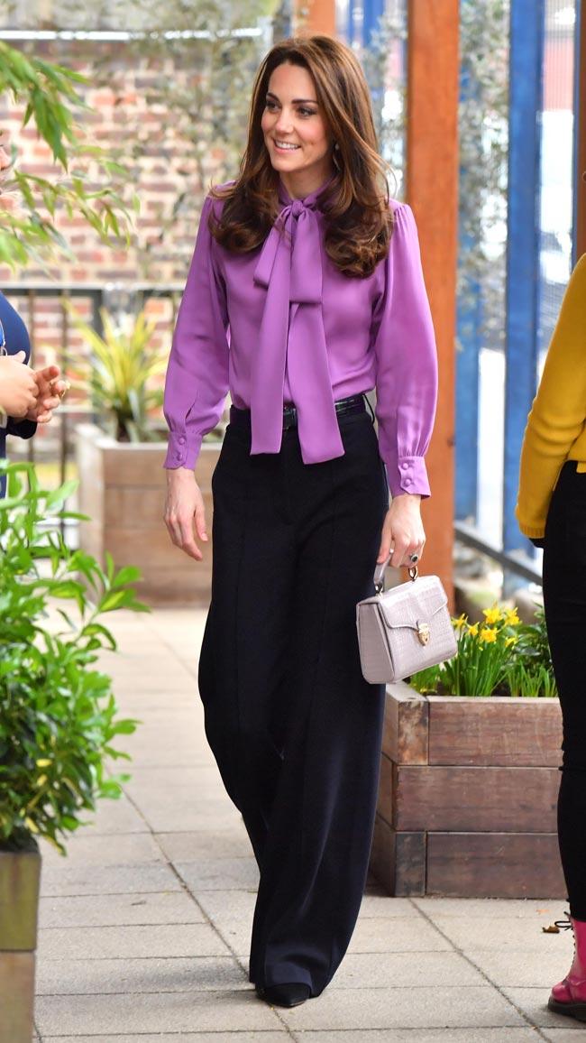 Kate Middleton, Catherine, Duchess of Cambridge, blouse worn backwards