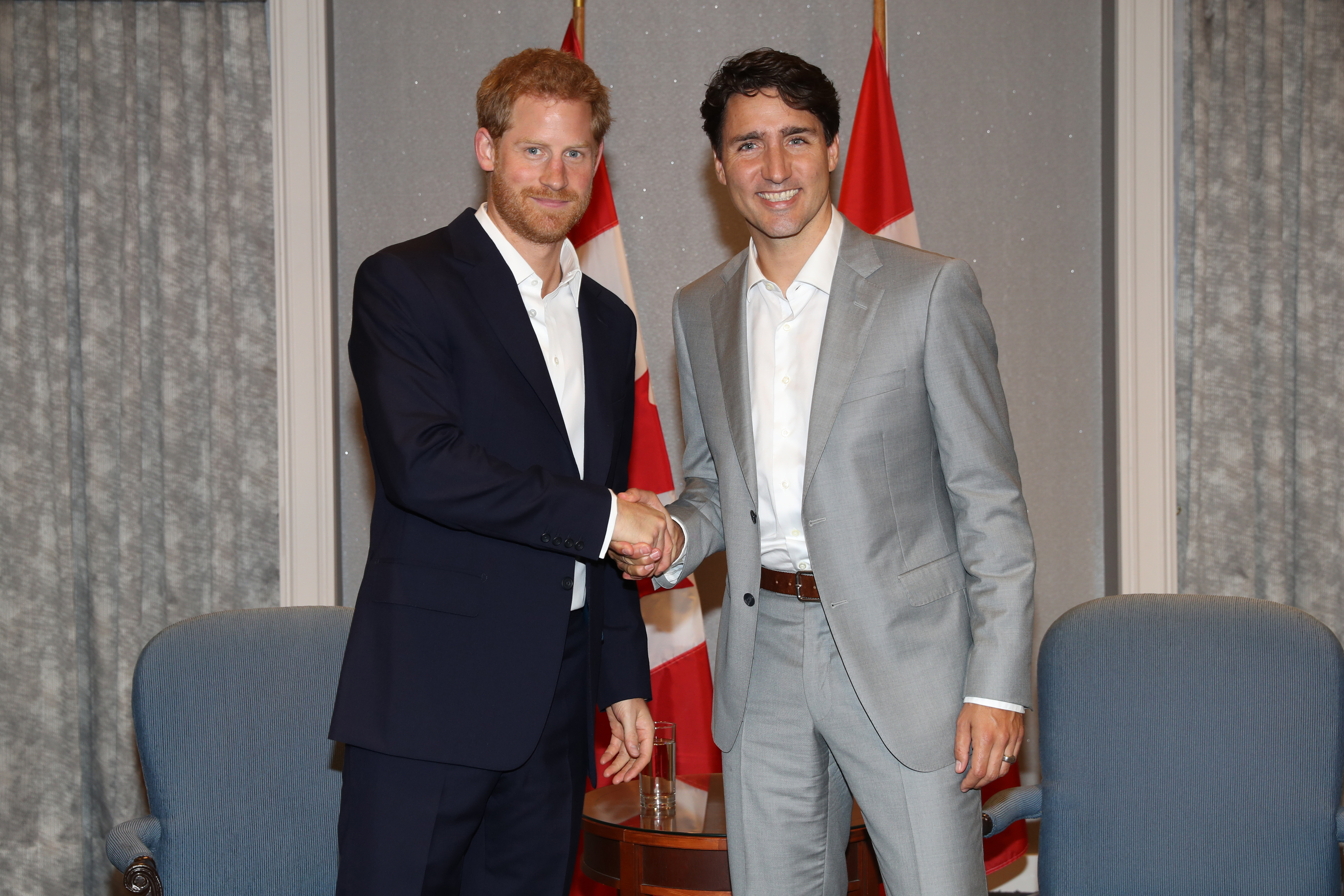 Prince Harry and Trudeau