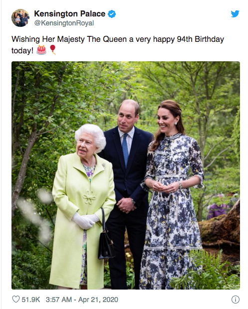 Duke and Duchess of Cambridge, Queen Elizabeth, Twitter