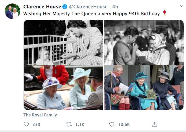 Prince Charles, Queen Elizabeth, Duchess Camilla, Twitter