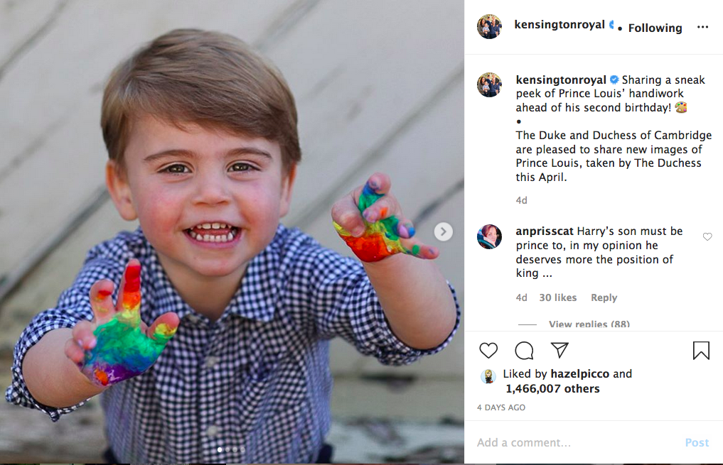 Prince Louis, Second Birthday, Instagram