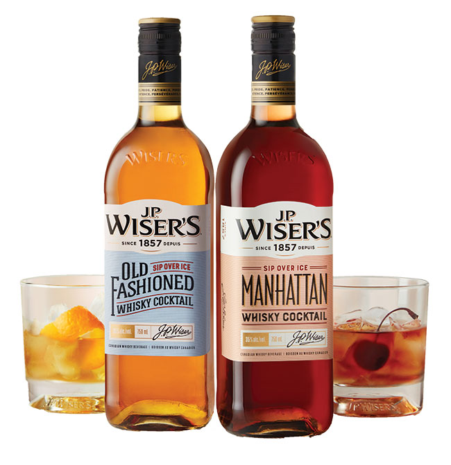 The Whisky J.P. Wiser's Old Fashioned and Manhattan Whisky Cocktail