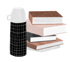 books and thermos