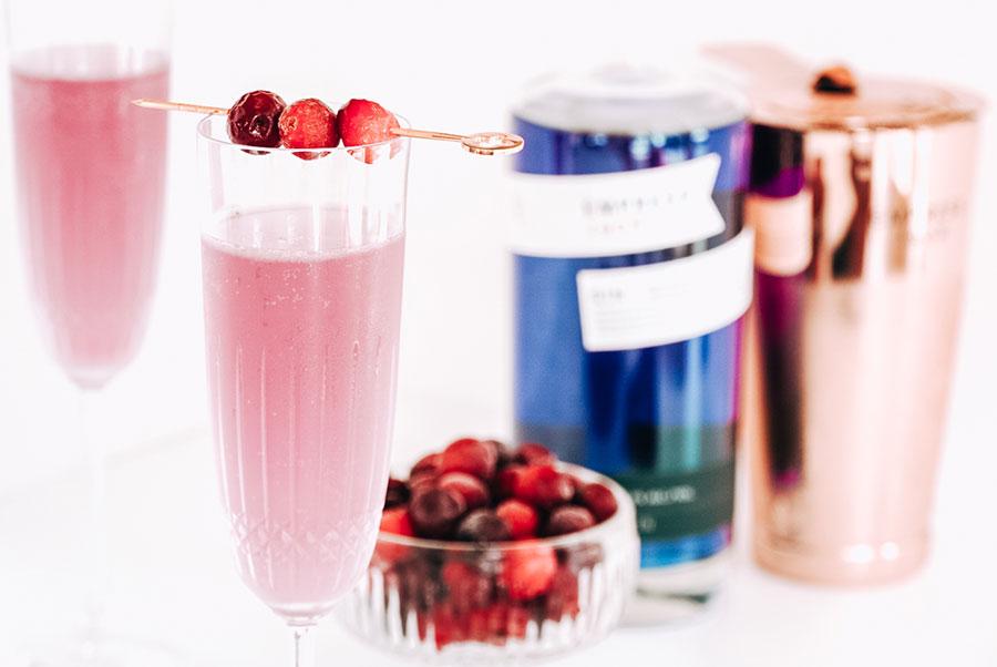 Empress Gin's Cranberry 75