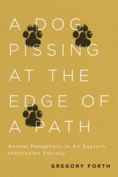Book cover of A Dog Pissing at the Edge of a Path.