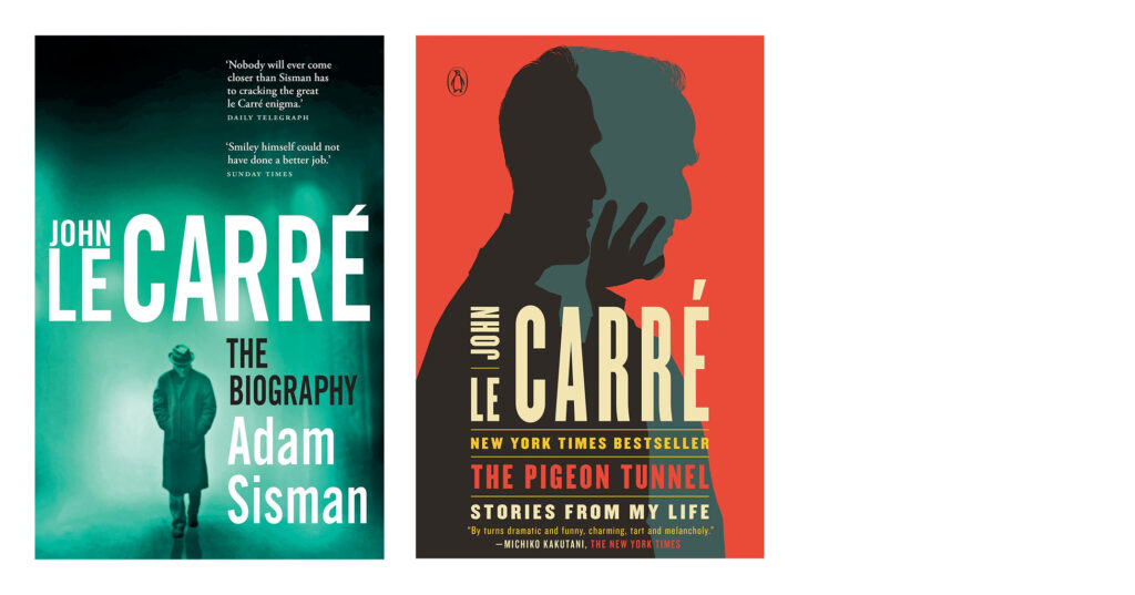 John Le Carre Book Covers; The Biography Adam Sisman, The Pigeon Tunnel