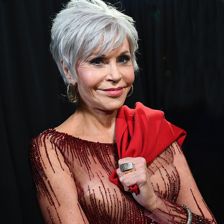 Jane Fonda stands backstage during the 92nd Annual Academy Awards at the Dolby Theatre on February 09, 2020 in Hollywood, California.