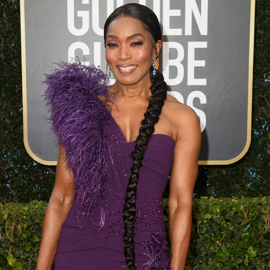 Angela Bassett arriving for the 78th annual Golden Globe Awards ceremony at the Beverly Hilton Hotel, in Beverly Hills, California