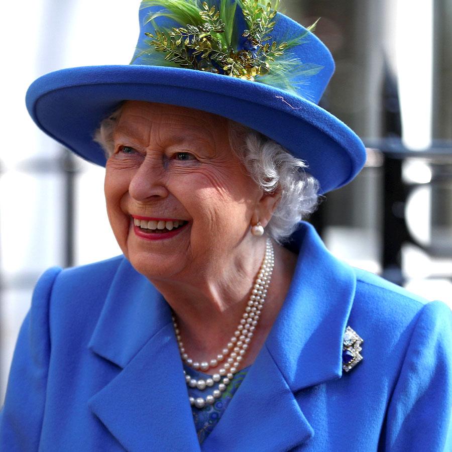 Portrait of Queen Elizabeth II smiling