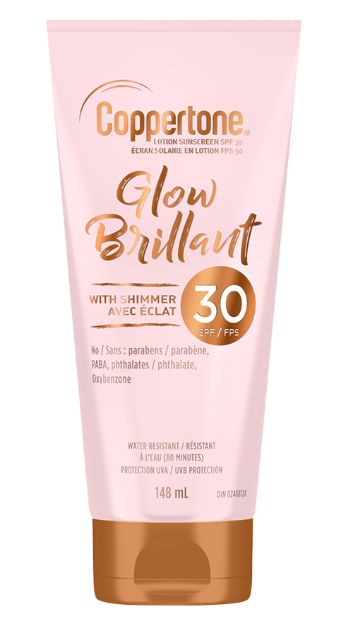 Coppertone Glow Sunscreen Lotion with Shimmer SPF30