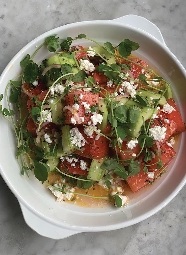 Watermelon greek salad recipe