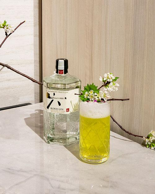 Roku Gin Fizz Cocktail