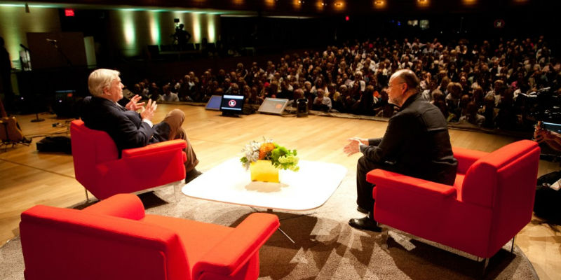 Conrad Black and Moses Znaimer, ideacity stage