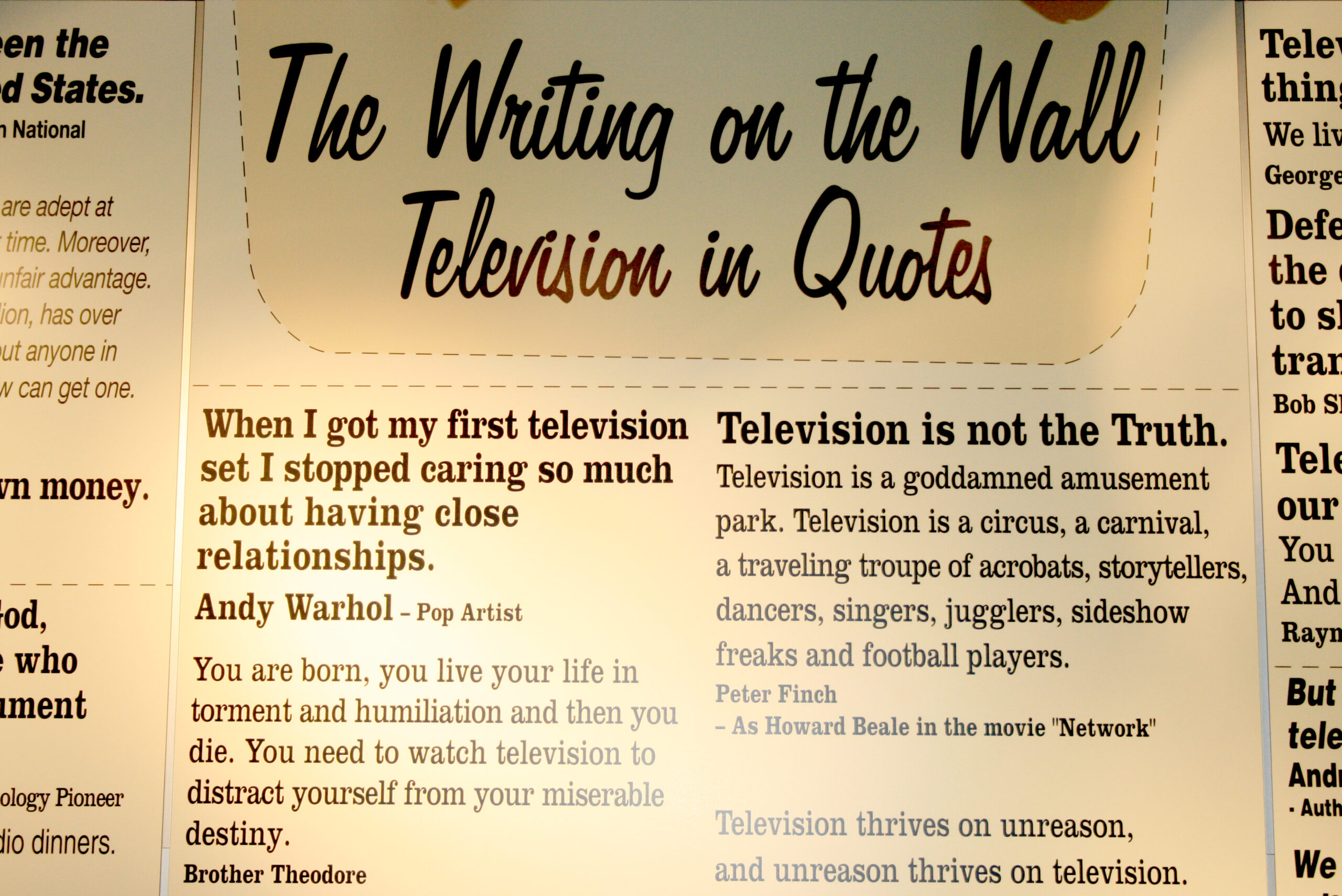 The Writing On the Wall: Television In Quotes