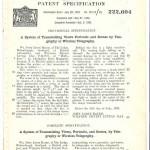 John Logie Baird Patent