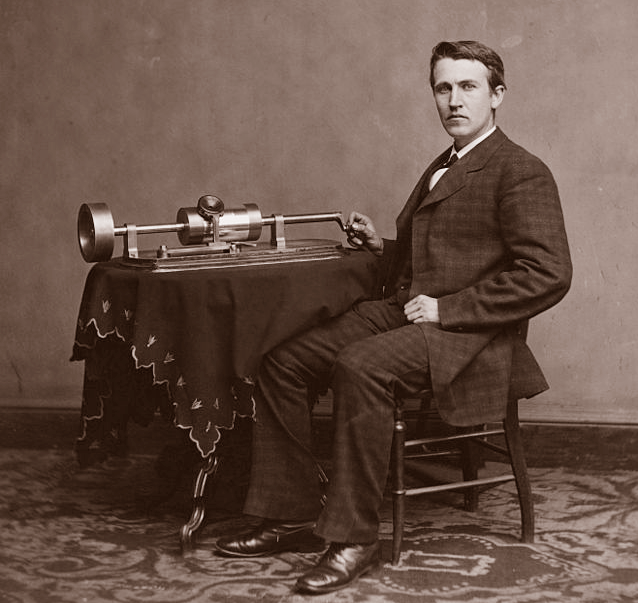Edison Invents the Phonograph