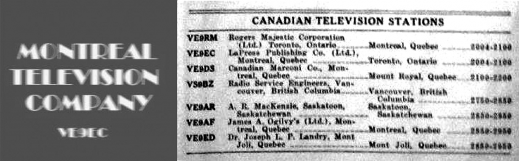 Canada's First TV Station