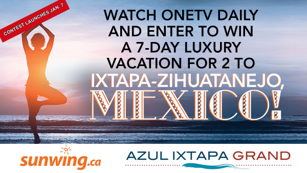 New Year New You Watch and Win Contest - Mexico - Sunwing - Launches Jan. 7